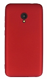 Alcatel U5 Mat Kırmızı Silikon Kılıf