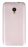 Alcatel U5 Mat Rose Gold Silikon Kılıf