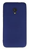 Alcatel U5 / U5 Plus Mat Lacivert Silikon Kılıf