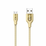 ANKER Powerline Micro USB Gold Örgülü Data Kablosu 90cm