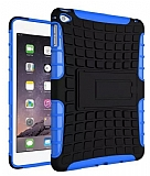 Apple iPad Air 2 Ultra Süper Koruma Standlı Mavi Kılıf
