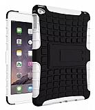 Apple iPad Air 2 Ultra Süper Koruma Standlı Beyaz Kılıf