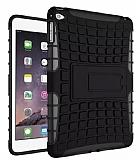 Apple iPad Air 2 Ultra Süper Koruma Standlı Siyah Kılıf