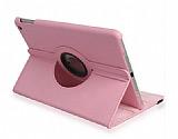 Apple iPad Air / iPad 9.7 360 Derece Döner Standlı Pembe Deri Kılıf