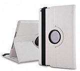 iPad Air 2 360 Derece Döner Standlı Beyaz Deri Kılıf
