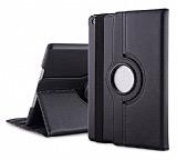 iPad Air 2 360 Derece Döner Standlı Siyah Deri Kılıf