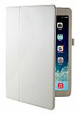 Apple iPad Air Standlı Beyaz Deri Kılıf