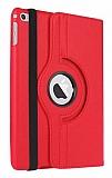 Apple iPad mini 4 360 Derece Döner Standlı Kırmızı Deri Kılıf