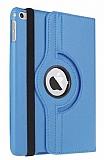 Apple iPad mini 4 360 Derece Döner Standlı Mavi Deri Kılıf