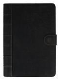 Apple iPad Air 2 Standlı Cüzdanlı Siyah Deri Kılıf