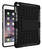 Apple iPad mini 4 Ultra Süper Koruma Standlı Siyah Kılıf