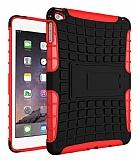 Apple iPad mini 4 Ultra Süper Koruma Standlı Kırmızı Kılıf