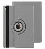 Apple iPad Pro 10.5 360 Derece Döner Standlı Silver Deri Kılıf