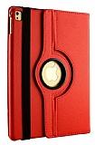 Apple iPad Pro 10.5 360 Derece Döner Standlı Kırmızı Deri Kılıf