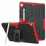 Apple iPad Pro 10.5 Ultra Süper Koruma Standlı Kırmızı Kılıf
