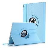 Apple iPad Pro 11 360 Derece Döner Standlı Mavi Deri Kılıf
