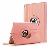 Apple iPad Pro 11 360 Derece Döner Standlı Rose Gold Deri Kılıf