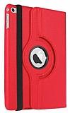 Apple iPad Pro 12.9 360 Derece Döner Standlı Kırmızı Deri Kılıf