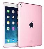Eiroo Apple iPad Pro 9.7 Ultra İnce Şeffaf Pembe Silikon Kılıf