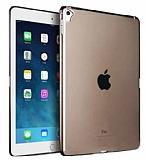 Eiroo Apple iPad Pro 9.7 Ultra İnce Şeffaf Siyah Silikon Kılıf