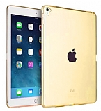 Apple iPad Pro 9.7 Ultra İnce Şeffaf Gold Silikon Kılıf