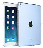 Apple iPad Pro 9.7 Ultra İnce Şeffaf Mavi Silikon Kılıf