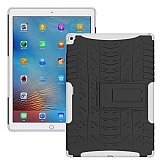 Apple iPad Pro 9.7 Ultra Süper Koruma Standlı Beyaz Kılıf
