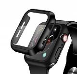 Apple Watch / Watch 2 / Watch 3 Siyah Cam Kılıf (42 mm)