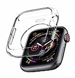 Apple Watch / Watch 2 / Watch 3 Şeffaf Silikon Kılıf (42 mm)