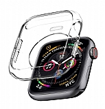 Apple Watch / Watch 2 / Watch 3 Şeffaf Silikon Kılıf (38 mm)
