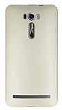 Asus Zenfone 2 Laser 6 inç Tam Kenar Koruma Gold Rubber Kılıf