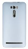Asus Zenfone 2 Laser 6 inç Tam Kenar Koruma Silver Rubber Kılıf
