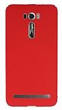 Asus Zenfone 2 Laser 6 inç Tam Kenar Koruma Kırmızı Rubber Kılıf