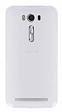 Asus ZenFone 2 Laser 5 inç Şeffaf Beyaz Silikon Kılıf