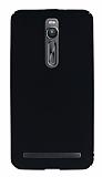 Asus ZenFone 2 ZE551ML Tam Kenar Koruma Siyah Rubber Kılıf