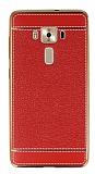 Asus ZenFone 3 Deluxe ZS570KL Dikiş İzli Kırmızı Silikon Kılıf