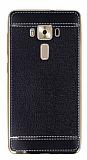 Asus ZenFone 3 Deluxe ZS570KL Dikiş İzli Siyah Silikon Kılıf