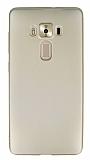 Asus ZenFone 3 Deluxe ZS570KL Mat Gold Silikon Kılıf