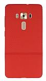 Asus ZenFone 3 Deluxe ZS570KL Ultra İnce Noktalı Kırmızı Silikon Kılıf