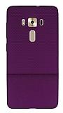 Asus ZenFone 3 Deluxe ZS570KL Ultra İnce Noktalı Mor Silikon Kılıf
