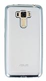 Asus Zenfone 3 Laser ZC551KL Silver Kenarlı Şeffaf Silikon Kılıf