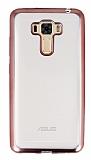 Asus Zenfone 3 Laser ZC551KL Rose Gold Kenarlı Şeffaf Silikon Kılıf