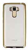 Asus Zenfone 3 Laser ZC551KL Gold Kenarlı Şeffaf Silikon Kılıf