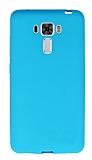 Asus Zenfone 3 Laser ZC551KL Ultra İnce Mat Mavi Silikon Kılıf