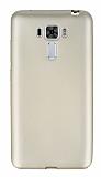 Asus Zenfone 3 Laser ZC551KL Ultra İnce Mat Gold Silikon Kılıf