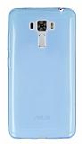 Asus Zenfone 3 Laser ZC551KL Ultra İnce Şeffaf Mavi Silikon Kılıf