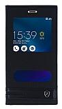 Asus Zenfone 3 Max ZC520TL Gizli Mıknatıslı Pencereli Siyah Deri Kılıf