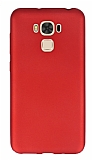 Asus ZenFone 3 Max ZC553KL Mat Kırmızı Silikon Kılıf
