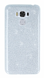 Asus ZenFone 3 Max ZC553KL Simli Silver Silikon Kılıf