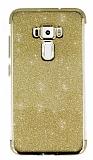 Asus ZenFone 3 ZE552KL Simli Gold Silikon Kılıf